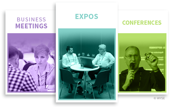 Software for organizing conferences, exhibitions and business meetings
